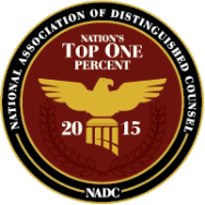 National Association of Distinguished Counsel, Top 1% (2015)