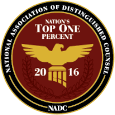 National Association of Distinguished Counsel, Top 1% (2016)