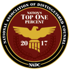 National Association of Distinguished Counsel, Top 1% (2017)