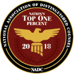 National Association of Distinguished Counsel, Top 1% (2018)